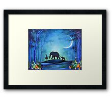 Elephant Walk Framed Print
