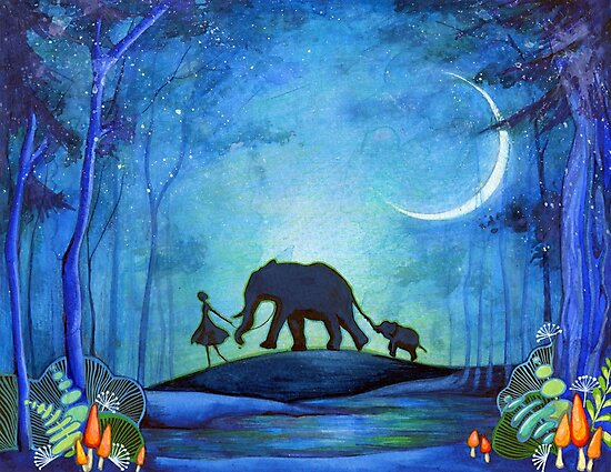 Elephant Walk by Annya Kai