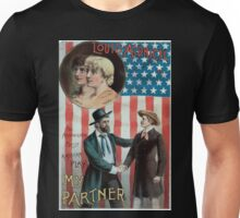 Performing Arts Posters Louis Aldrich in My partner the acknowledged best American play 0597 Unisex T-Shirt
