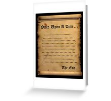 Once....... Greeting Card