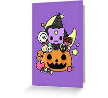 Trick or Treat Kitty Greeting Card