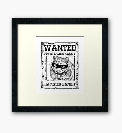 Hamster Bandit Framed Print