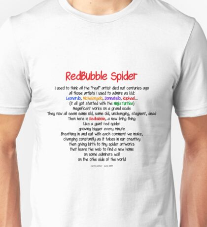 Red Bubble Spider Unisex T-Shirt