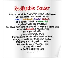 Red Bubble Spider Poster