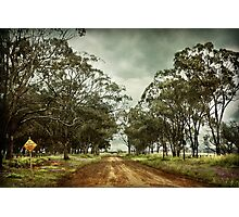 Dry weather road Photographic Print