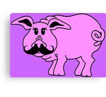 Hipster Pig Canvas Print