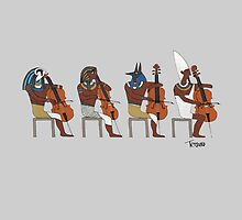 Ancient Cellists by Tetsuro Hoshii