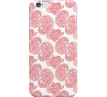 The Red Paisley iPhone Case/Skin