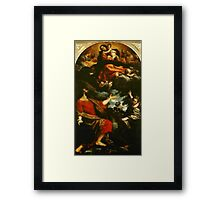 MARY AND CHILD Framed Print