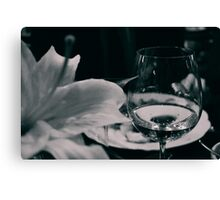 Fine glass and flower Canvas Print