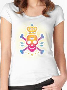 Skull with eye Women's Fitted Scoop T-Shirt