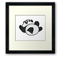 Tumbling Panda Bear Framed Print