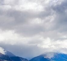 Clouds Descend the Tooth Peaks (near Glenorchy, NZ) Sticker