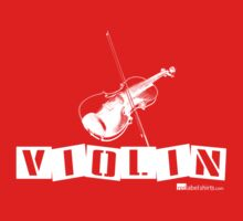 Label Me A Violin (White Lettering) Kids Tee