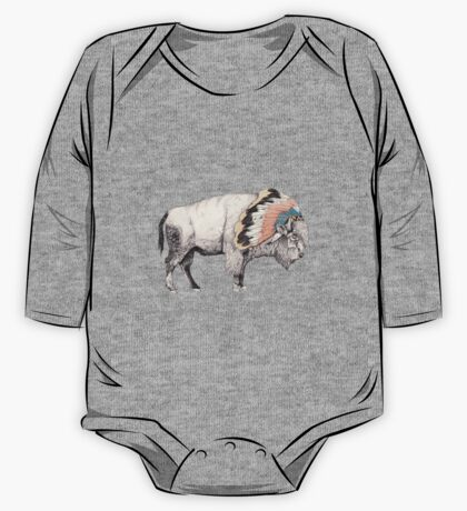White Bison One Piece - Long Sleeve