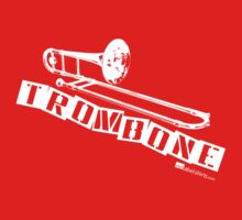 Label Me A Trombone (White Lettering) Kids Tee