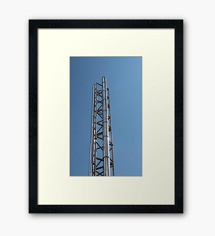 Steel chimney Framed Print