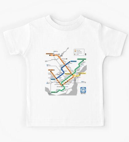 STM Montreal Metro - light background Kids Tee