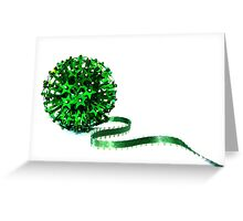 shiny and green Greeting Card