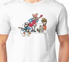 PAUL MCCARTNEY GEORGE HARRISON RINGO STARR PLAYING INSTRUMENTS Unisex T-Shirt