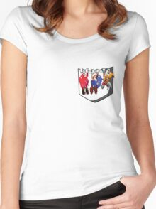 Pocket Sonic Women's Fitted Scoop T-Shirt