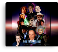 Dr.Who 50th Anniversary Duvet Cover  Canvas Print
