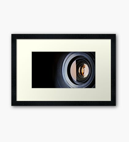 Photo Lens Framed Print
