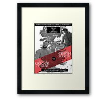 Will the gods save the imp? Framed Print