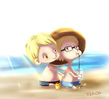 Haikyuu!! - Tsukishima Brothers - At the Beach by TrashCat
