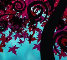 Falling Into Autumn Sticker