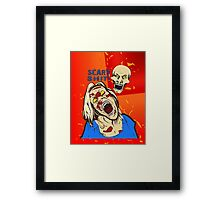 scary shit Framed Print