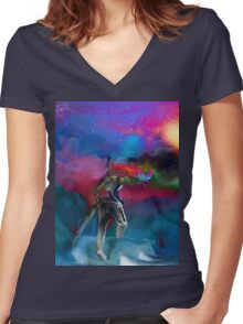 Dust Storm Women's Fitted V-Neck T-Shirt