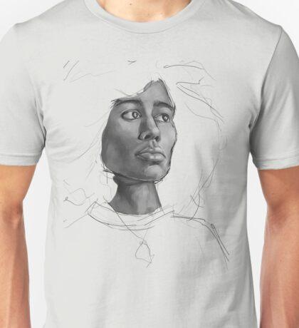 Black & White Portrait Study Unisex T-Shirt
