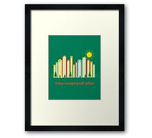 Books and Mountains Framed Print