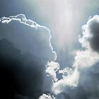 CLOUDS IN SHADES OF BLUE by Sandra  Aguirre
