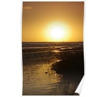 Sunset Over The Reeds Poster