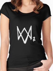 Watch Dogs 2 Women's Fitted Scoop T-Shirt