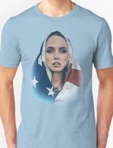Stars and Stripes Girl Unisex T-Shirt