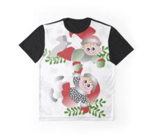 Kids Playing in Snow Graphic T-Shirt