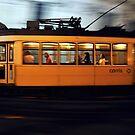 Lisbon tram at night  by Tomasz-Olejnik