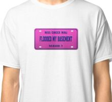 Flooded my basement - Ginger Minj License Plate Classic T-Shirt