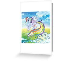 Rainbow Dash in flight - MLP Greeting Card