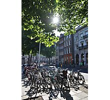 Bikes in Dublin city center Photographic Print