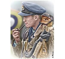 RAF Spitfire Pilot Photographic Print