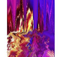 Melted Glitch Photographic Print