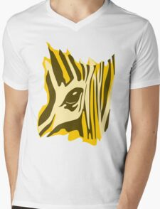 Animal skin Zebra Mens V-Neck T-Shirt