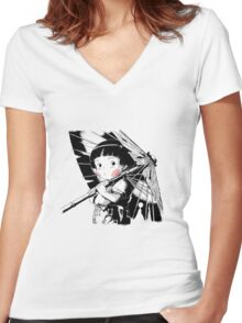 Grave of fireflies #2 Women's Fitted V-Neck T-Shirt