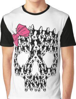 Boston Terrier Sugar Skull Graphic T-Shirt