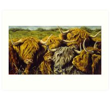 Highland Gathering Art Print