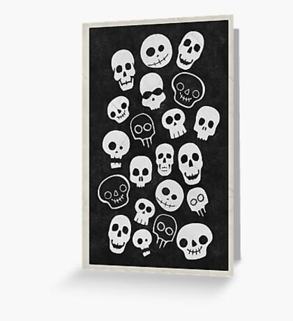 A Lot Of Skulls Greeting Card